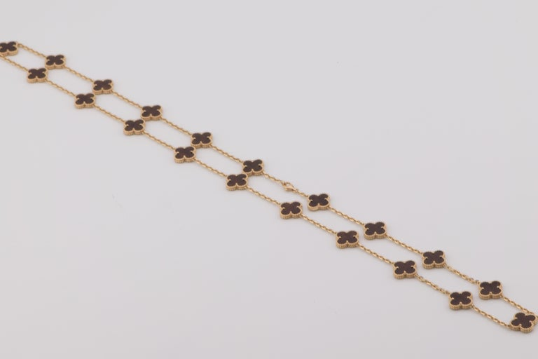 Van Cleef & Arpels Letterwood Vintage Alhambra 20 Motif Necklace 4