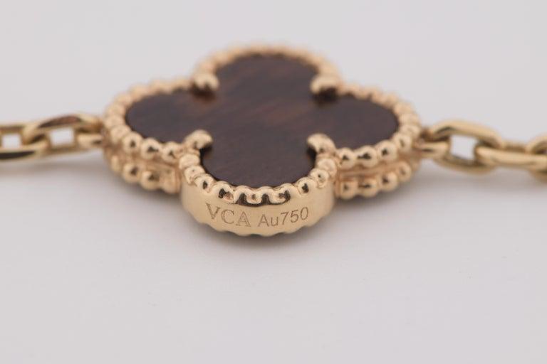 Van Cleef & Arpels Letterwood Vintage Alhambra 20 Motif Necklace 6