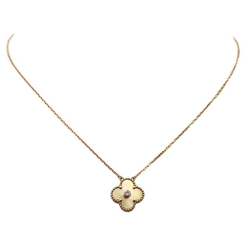 Van Cleef & Arpels Limited Edition Vintage Alhambra Pendant Necklace