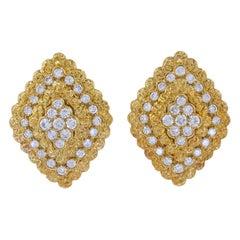 Van Cleef & Arpels Lozenge Motifs Diamond Earrings