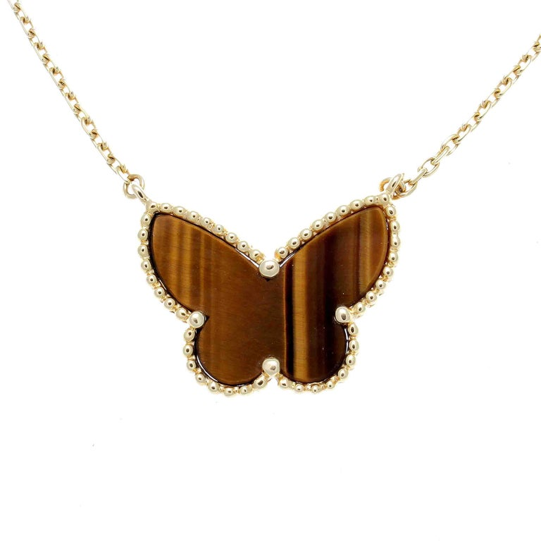 Van Cleef Lucky Alhambra Necklace: Van Cleef And Arpels Lucky Alhambra Butterfly Necklace For