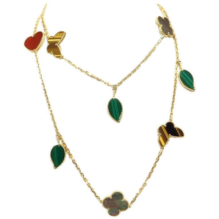 Van Cleef And Arpels Lucky Alhambra Long Necklace, 12