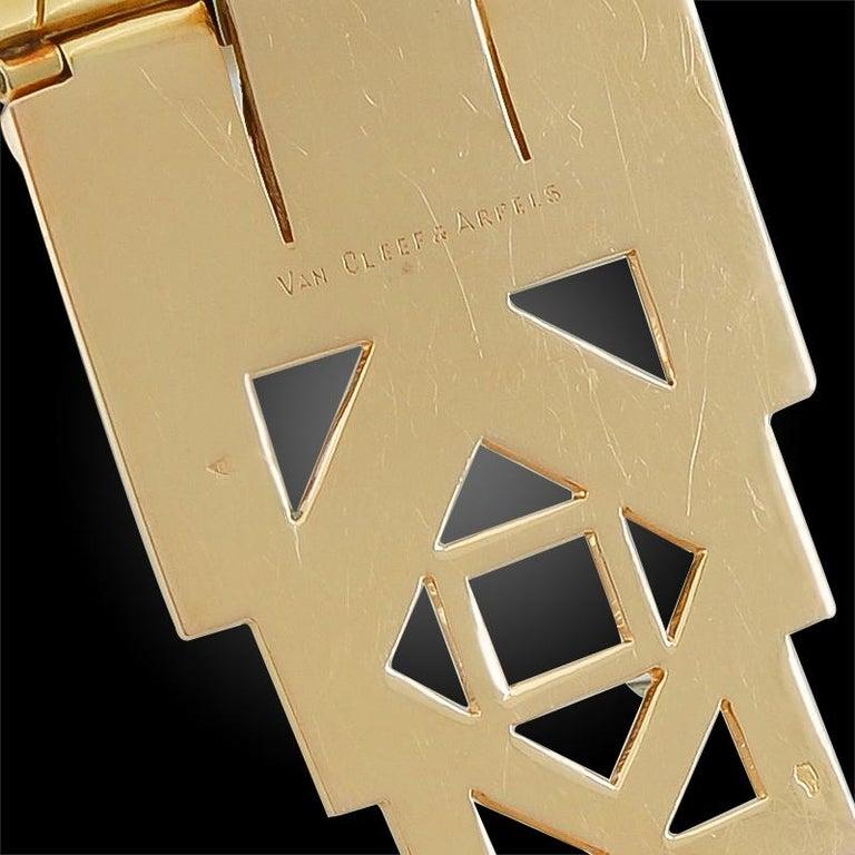 Women's or Men's Van Cleef & Arpels Ludo-Hexagone Diamond, Mystery-Set Sapphire Brooches For Sale