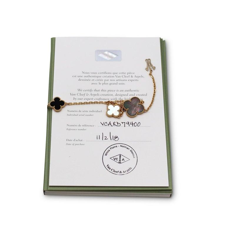 Van Cleef & Arpels Magic Alhambra 16 Motif Long Necklace For Sale 2