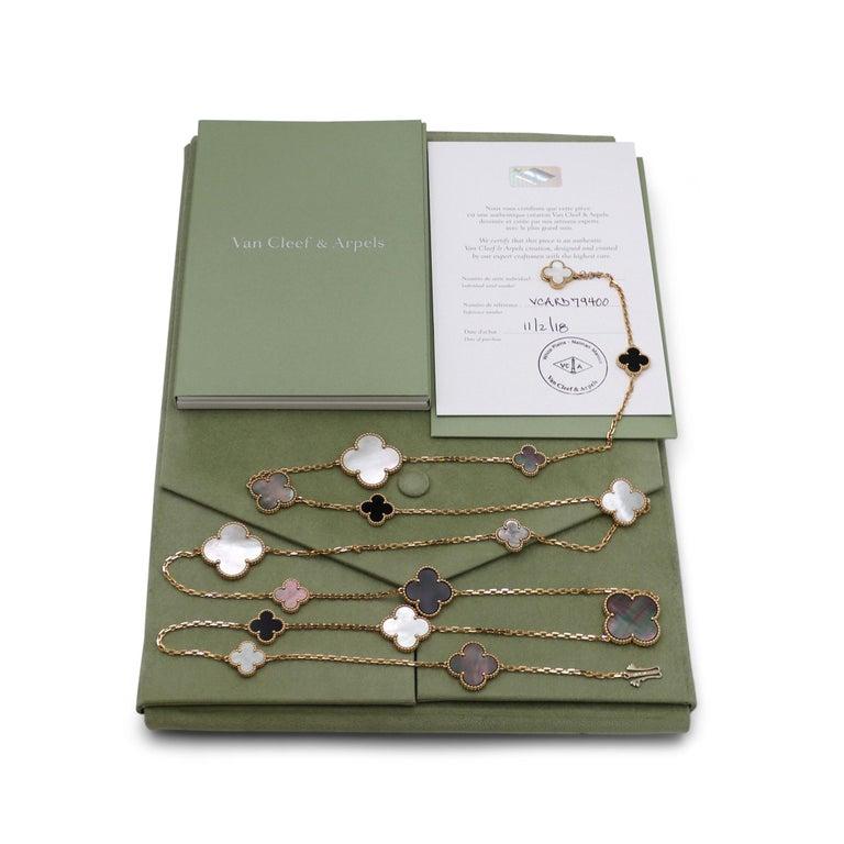 Van Cleef & Arpels Magic Alhambra 16 Motif Long Necklace For Sale 3