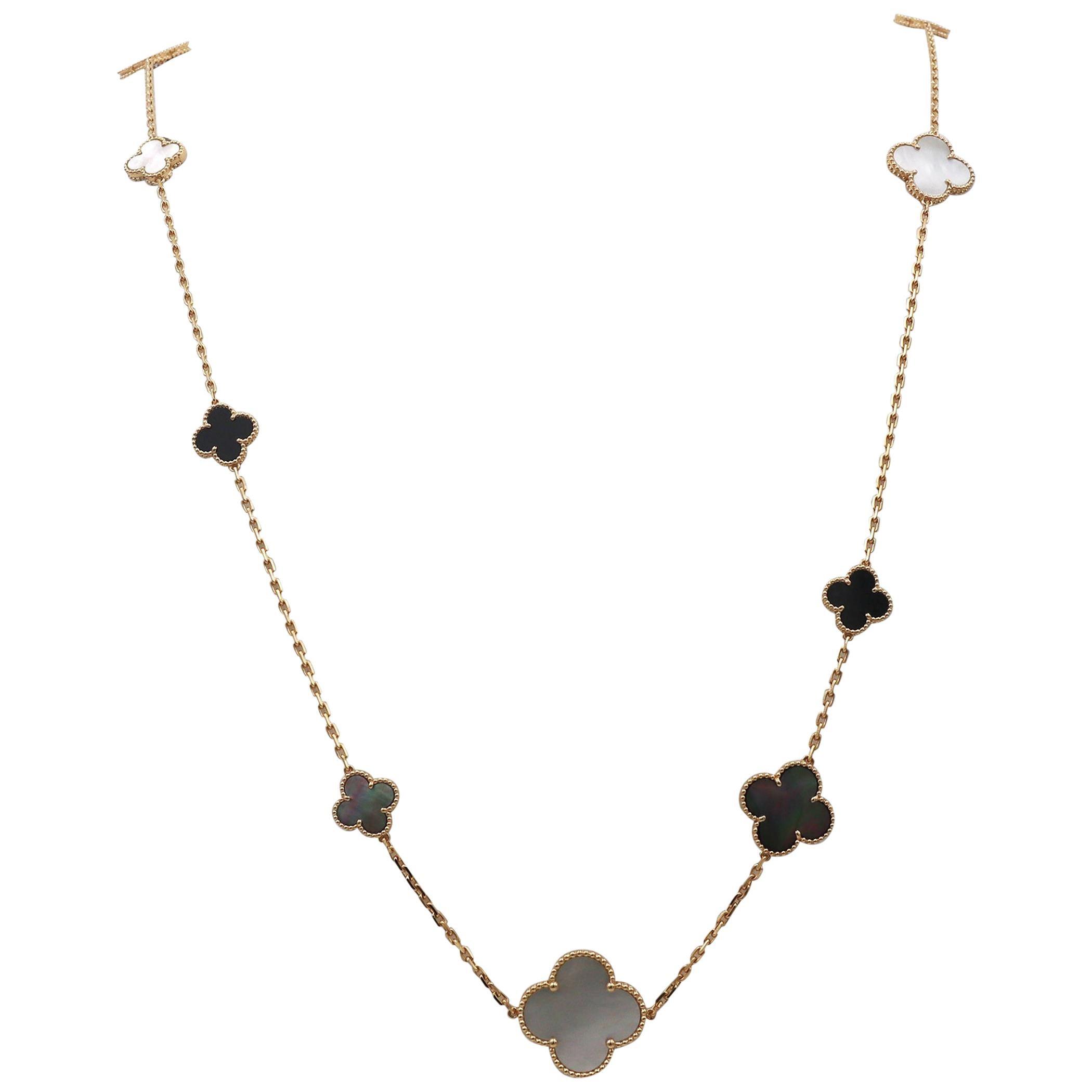 Van Cleef & Arpels Magic Alhambra 16 Motif Long Necklace