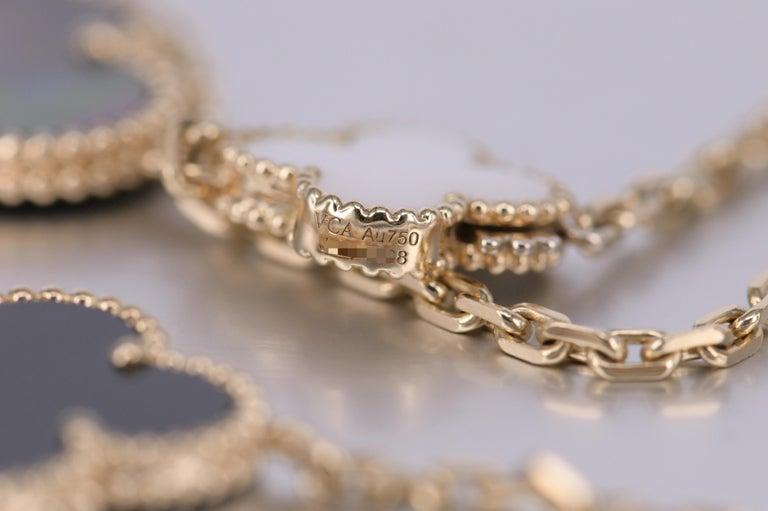 Van Cleef & Arpels Magic Alhambra 16 Motif Yellow Gold Long Necklace 5