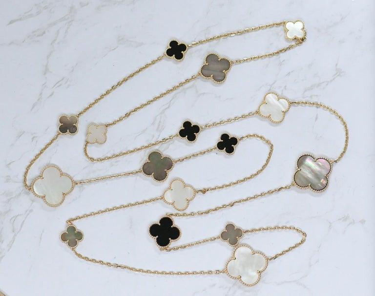 Van Cleef & Arpels Magic Alhambra 16 Motif Yellow Gold Long Necklace 6