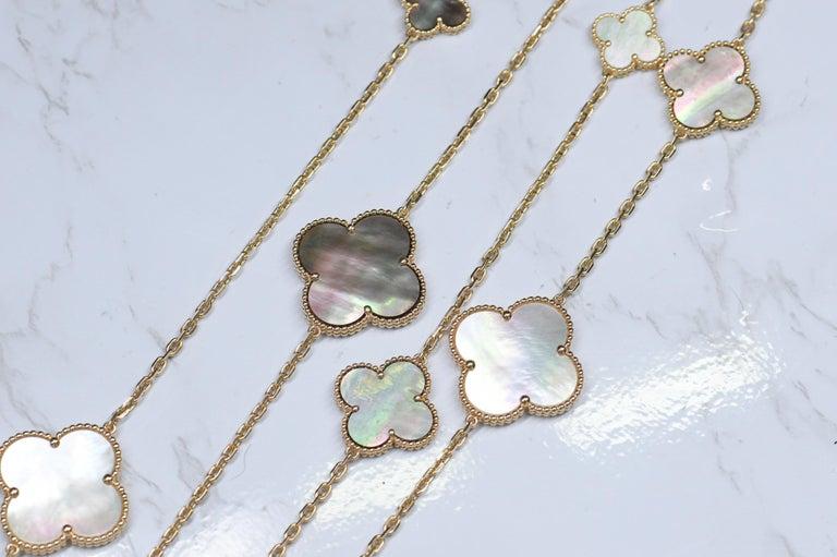 Van Cleef & Arpels Magic Alhambra 16 Motif Yellow Gold Long Necklace 1