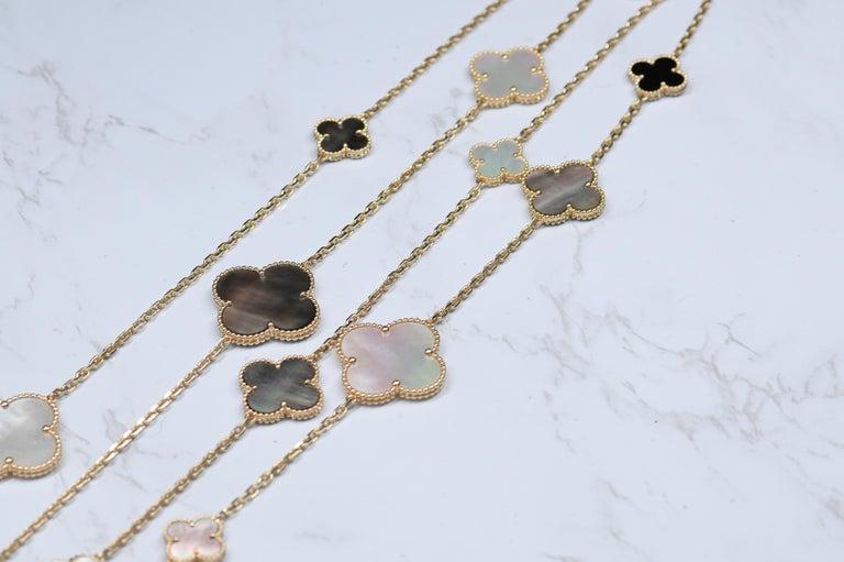 Van Cleef & Arpels Magic Alhambra 16 Motif Yellow Gold Long Necklace 2
