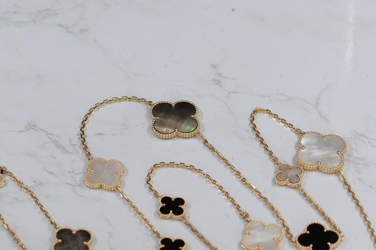 Van Cleef & Arpels Magic Alhambra 16 Motif Yellow Gold Long Necklace 3