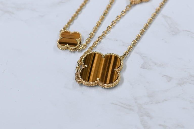 Van Cleef & Arpels Magic Alhambra 16 Motifs Long Necklace For Sale 5