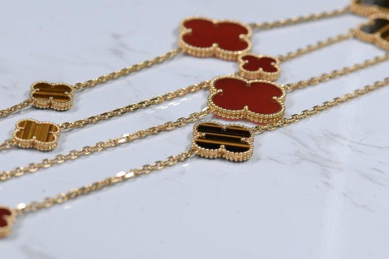 Van Cleef & Arpels Magic Alhambra 16 Motifs Long Necklace For Sale 6