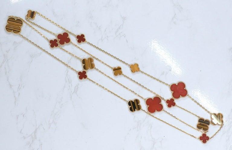 Van Cleef & Arpels Magic Alhambra 16 Motifs Long Necklace For Sale 7