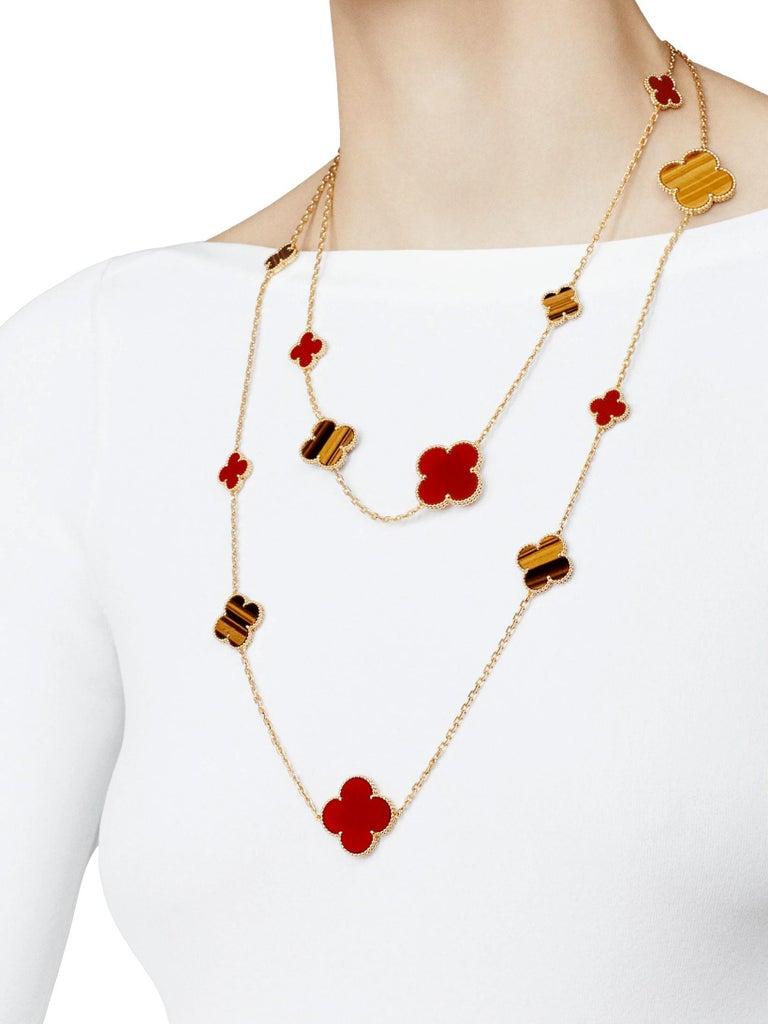 Van Cleef & Arpels Magic Alhambra 16 Motifs Long Necklace For Sale 8