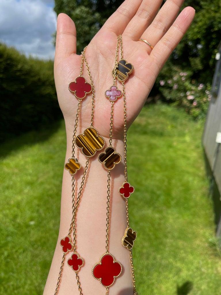 Women's or Men's Van Cleef & Arpels Magic Alhambra 16 Motifs Long Necklace For Sale