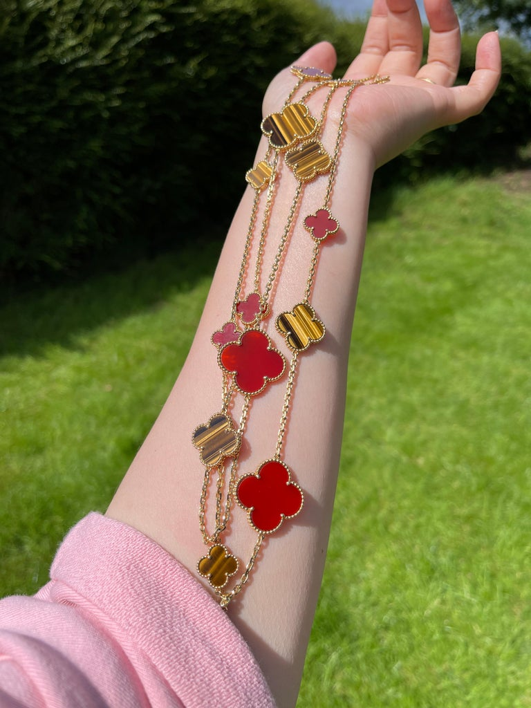 Van Cleef & Arpels Magic Alhambra 16 Motifs Long Necklace For Sale 1