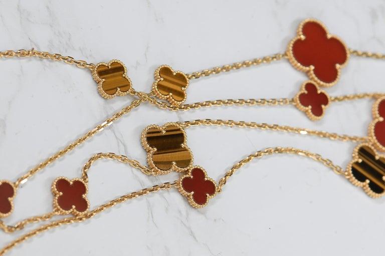 Van Cleef & Arpels Magic Alhambra 16 Motifs Long Necklace For Sale 4