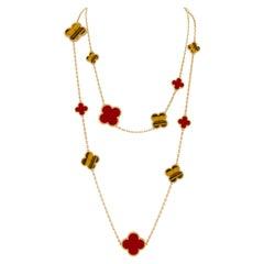 Van Cleef & Arpels Magic Alhambra 16 Motifs Long Necklace