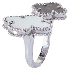 Van Cleef & Arpels Magic Alhambra 18K White Gold The Fingers Ring Size 52