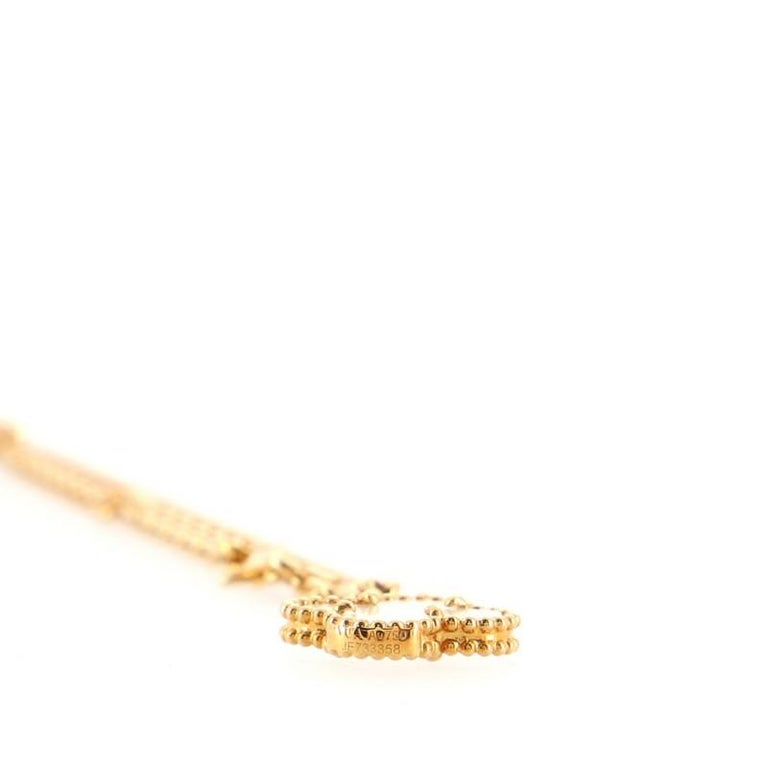 Van Cleef & Arpels Magic Alhambra 6 Motif Necklace 18K Yellow Gold and Mo For Sale 1