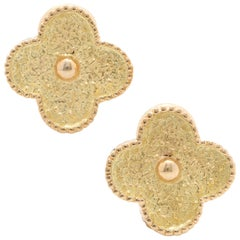 Van Cleef & Arpels Magic Alhambra Clip Earrings 18 Karat Yellow Gold