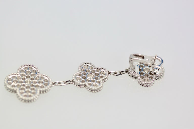 Van Cleef & Arpels Magic Alhambra Diamond 3 Clover Earrings 2