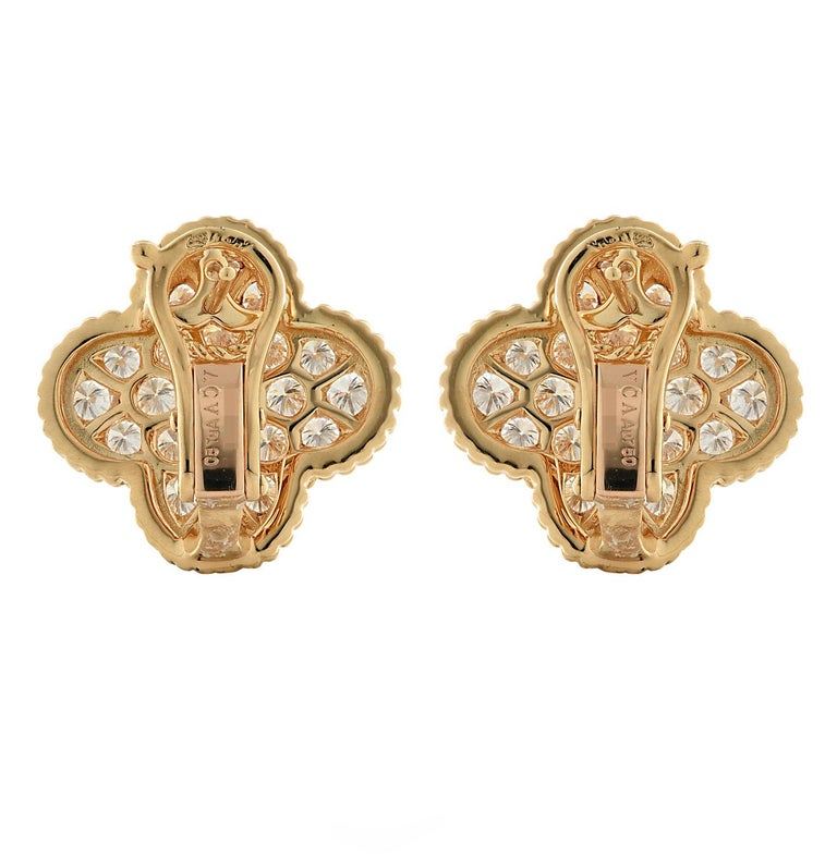 Modern Van Cleef & Arpels Magic Alhambra Diamond Earrings For Sale