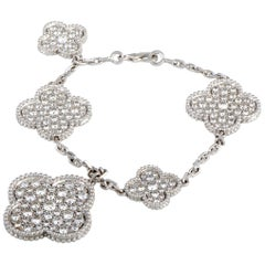 Van Cleef & Arpels Magic Alhambra Diamond White Gold 5 Motif Bracelet