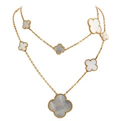 Van Cleef & Arpels Magic Alhambra Long Mother of Pearl Necklace