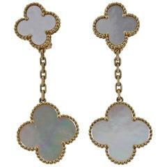Van Cleef & Arpels Magic Alhambra Mother of Pearl Gold Earrings