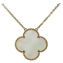 Van Cleef & Arpels Magic Alhambra Mother of Pearl Rose Gold Extra Large Pendant
