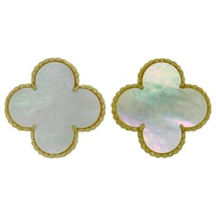 Van Cleef & Arpels Magic Alhambra Mother-of-pearl Yellow Gold Earrings