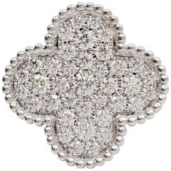 Van Cleef & Arpels 'Magic Alhambra' White Gold and Diamond Ring