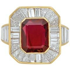 Van Cleef & Arpels Men's Ruby and Diamond Ring
