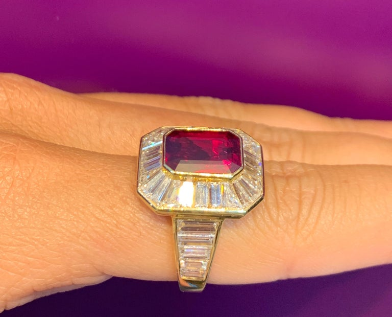 Van Cleef & Arpels Men's Ruby and Diamond Ring For Sale 1