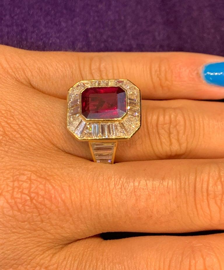 Van Cleef & Arpels Men's Ruby and Diamond Ring For Sale 2