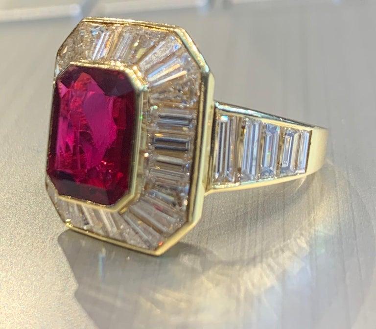 Van Cleef & Arpels Men's Ruby and Diamond Ring For Sale 3