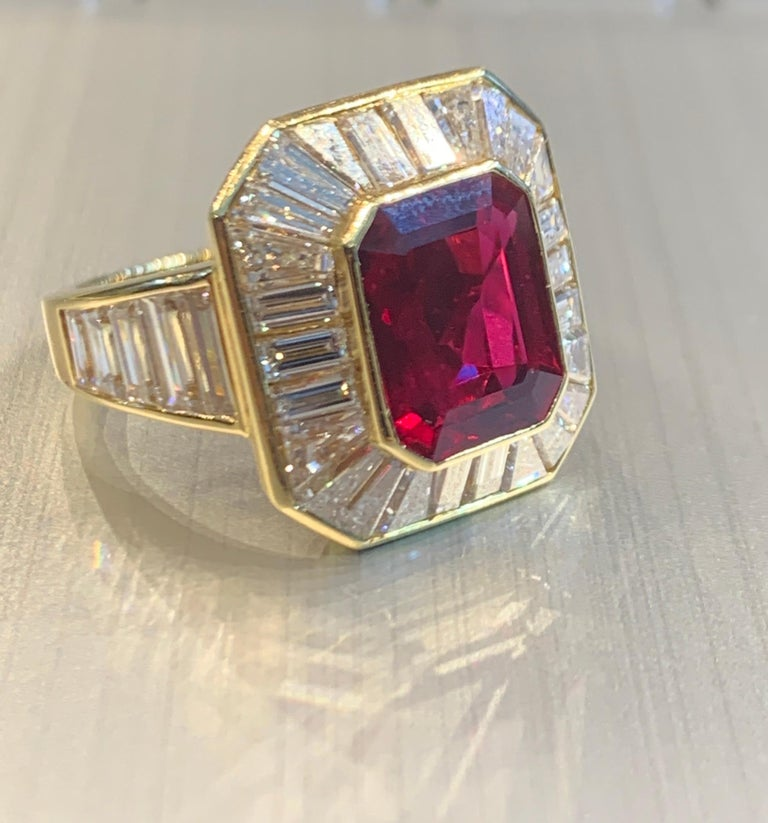 Van Cleef & Arpels Men's Ruby and Diamond Ring For Sale 4