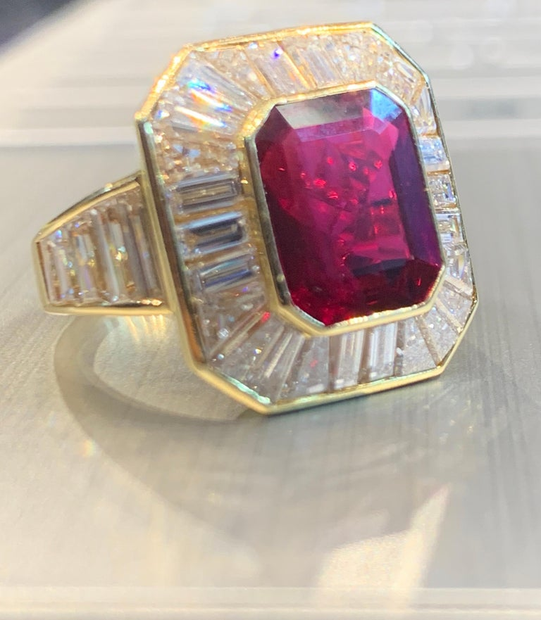 Van Cleef & Arpels Men's Ruby and Diamond Ring For Sale 5