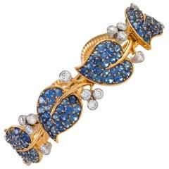 Van Cleef & Arpels Montana Sapphire and Diamond Leaf Bracelet