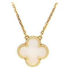 Van Cleef & Arpels Mother of Pearl Alhambra Pendant Necklace
