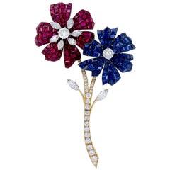 Van Cleef & Arpels Mystery-Set Flower Brooch
