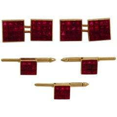 Van Cleef & Arpels Mystery Set Ruby Cufflinks