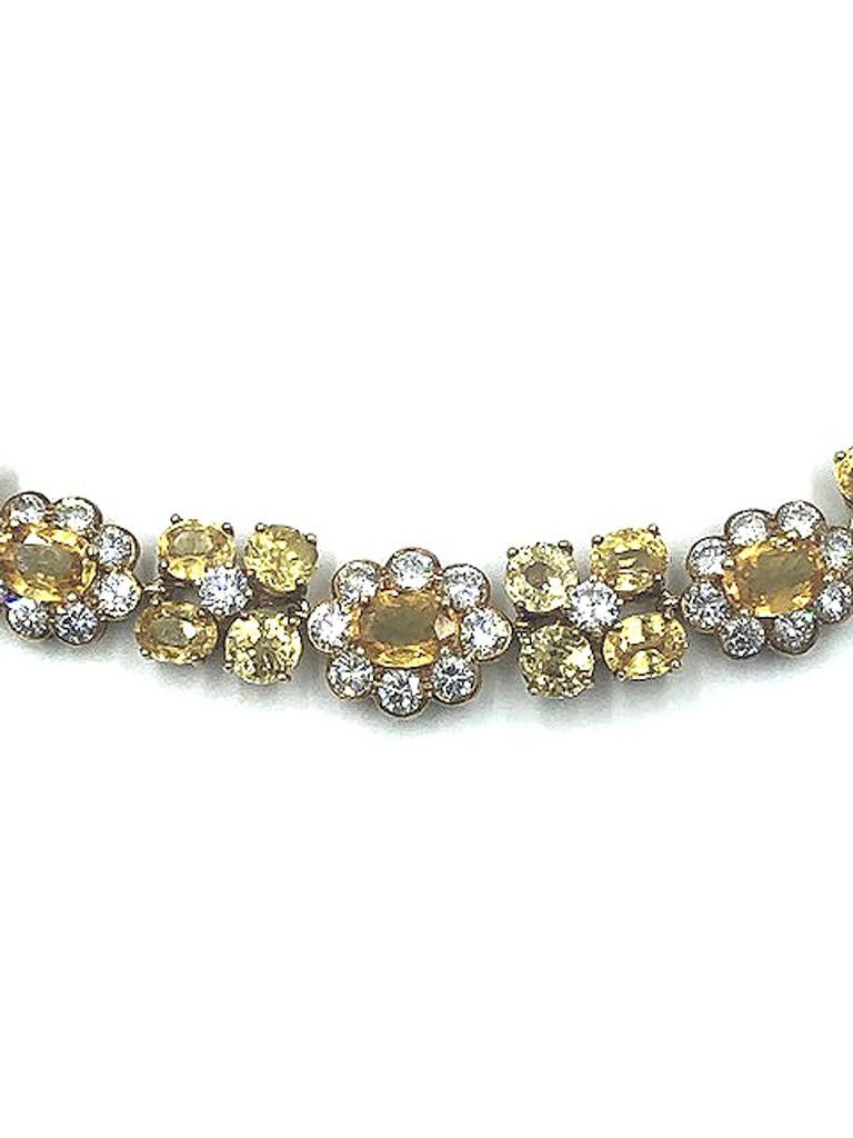 Van Cleef & Arpels Natural Yellow Ceylon Sapphire and Diamond Necklace For Sale 6