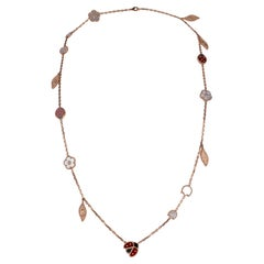 Van Cleef & Arpels Necklace Lucky Spring 15 Motifs Rose Gold New w/ Boxe