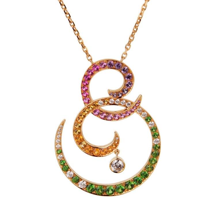 Van Cleef & Arpels Oiseaux De Paradis Sapphire Diamond Pendant Necklace For Sale 1