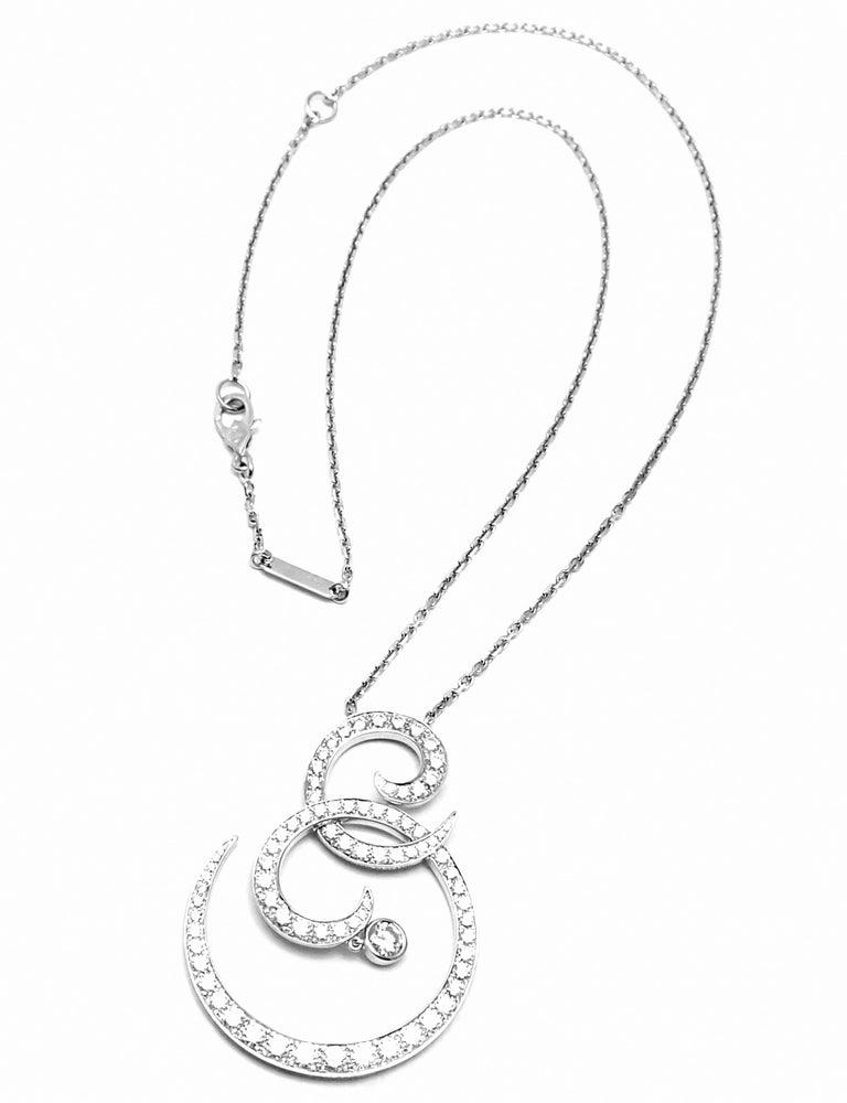 Van Cleef & Arpels Oiseaux De Paradis White Gold Diamond Pendant Necklace For Sale 3