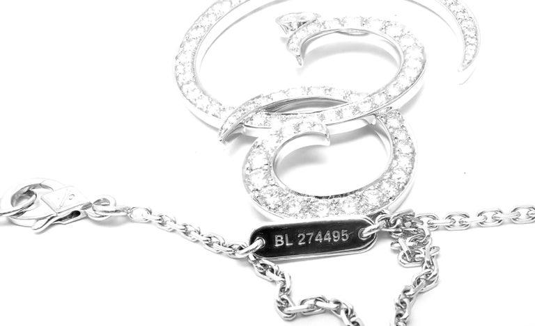 Van Cleef & Arpels Oiseaux De Paradis White Gold Diamond Pendant Necklace For Sale 5