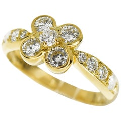 Van Cleef & Arpels Ombelle Diamond Ring 18 Karat Yellow Gold